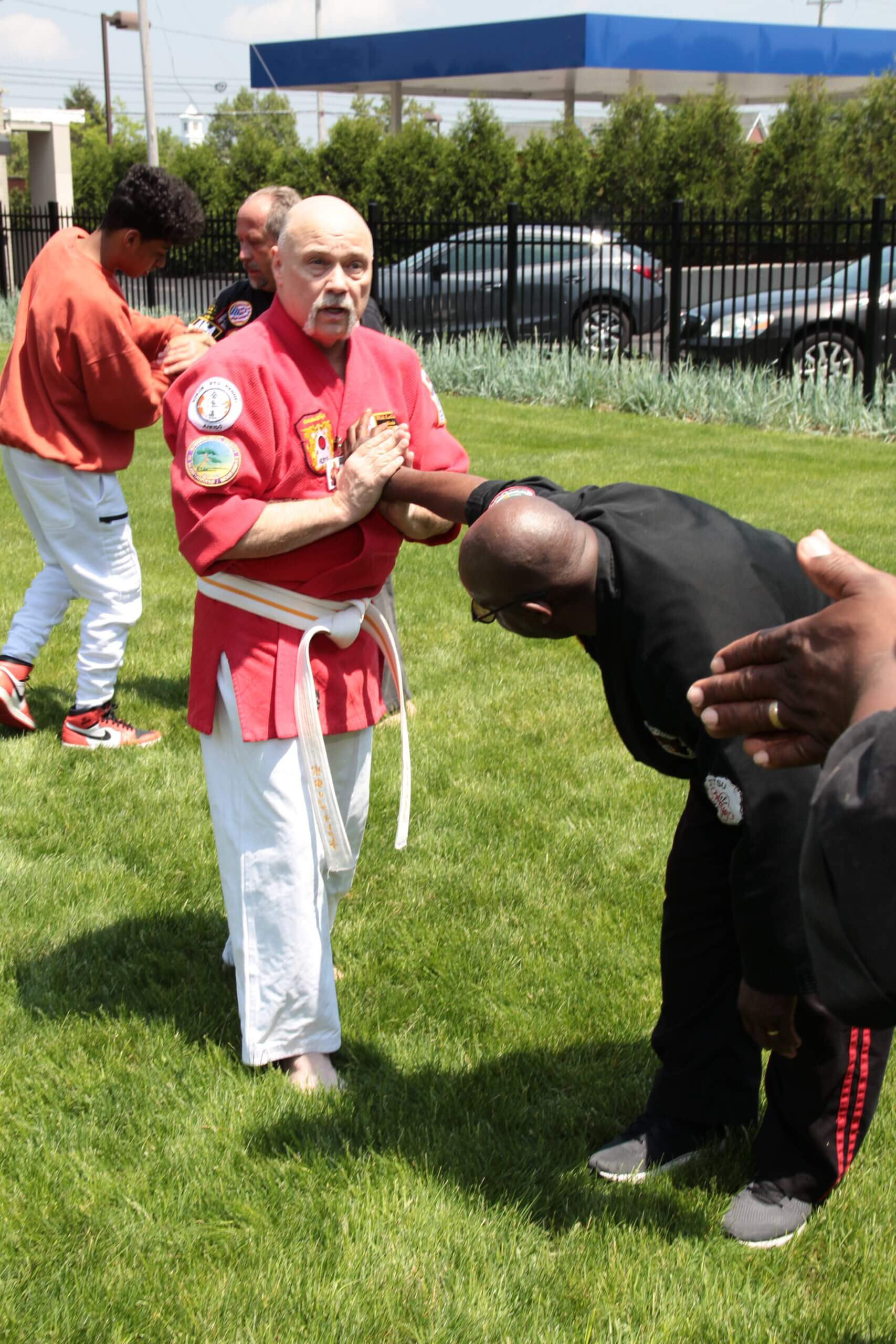 Soke Rick LeClair Demonstrating Martial Arts Technique