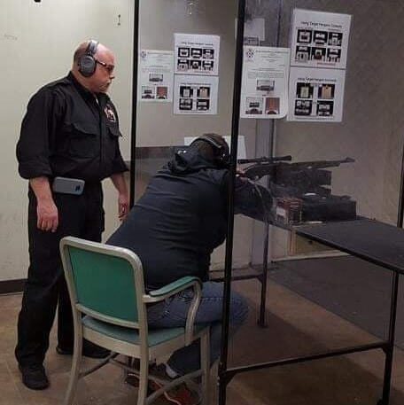 Leominster Firearms Training Rick_male client_indoor range