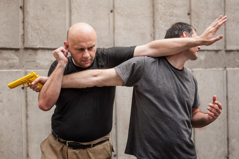 Leominster Firearm Training_SelfDefense technique assault at gun point, block