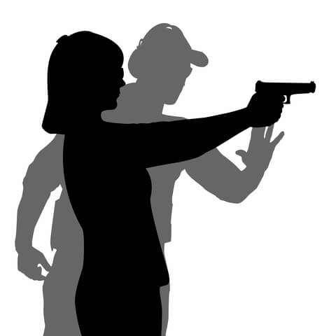 Leominster Firearms_Instructor_Student Aiming_Silhouette