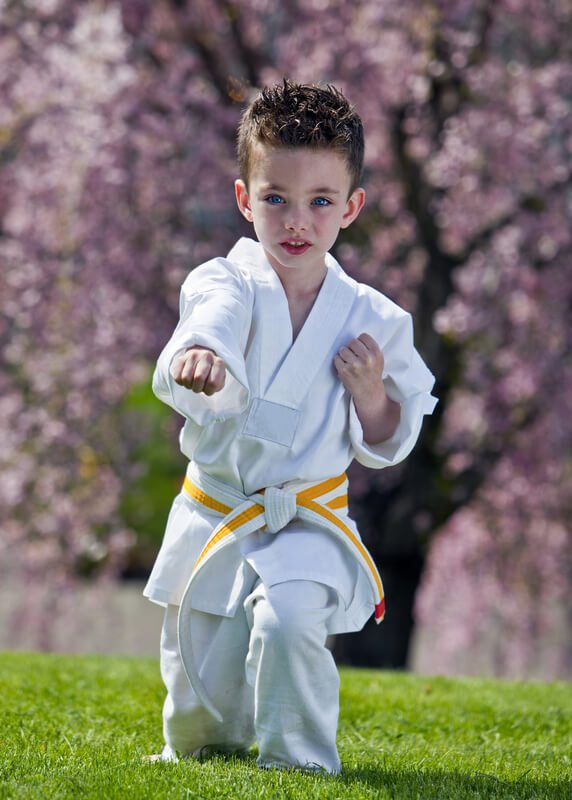Leominster Martial Arts_male child_Successful Samurai_White with Yellow Middle