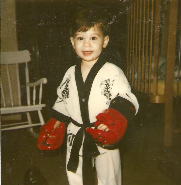 Richard LeClair_son of Rick LecClair_Karate Uniform and Gloves