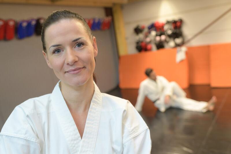 Upclose Female Martial Arts Student Confident